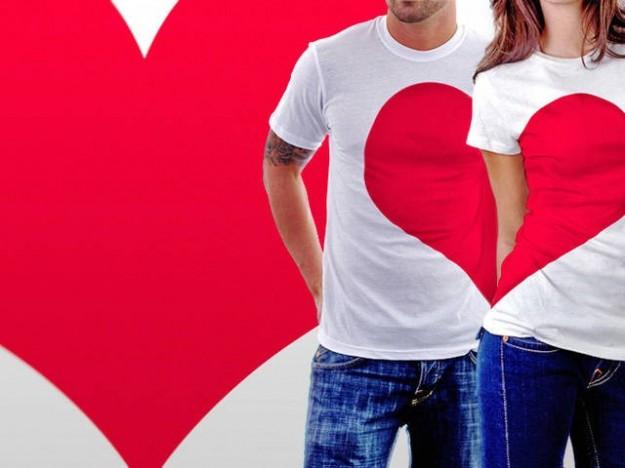 Maglietta a metà