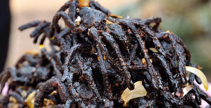 Ragni fritti - Cambogia