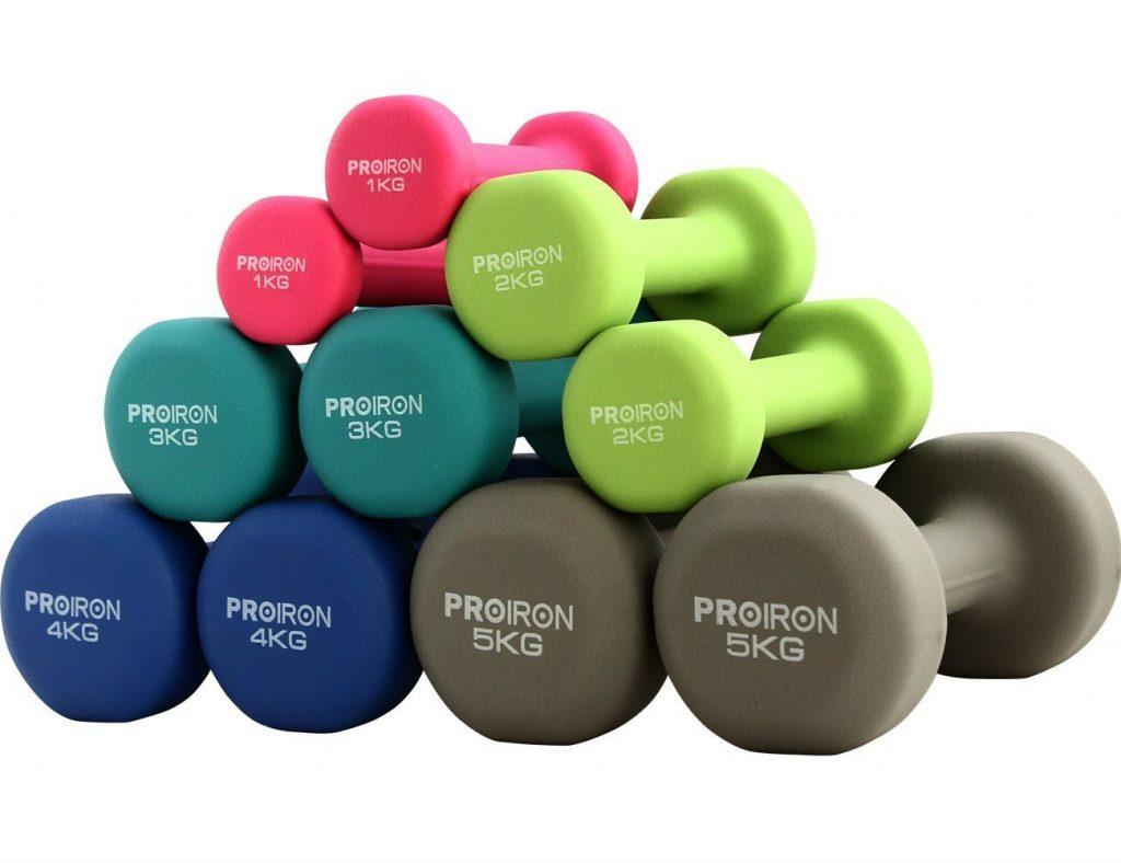 pesi - attrezzi per ginnastica in casa