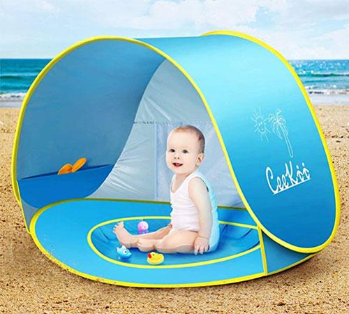 giochi per il mare tenda con piscina