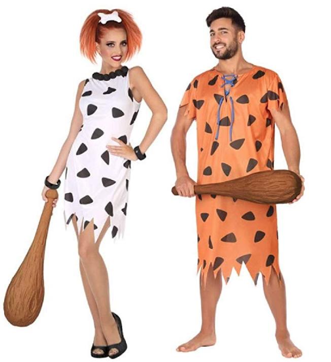 costume carnevale coppia cavernicoli