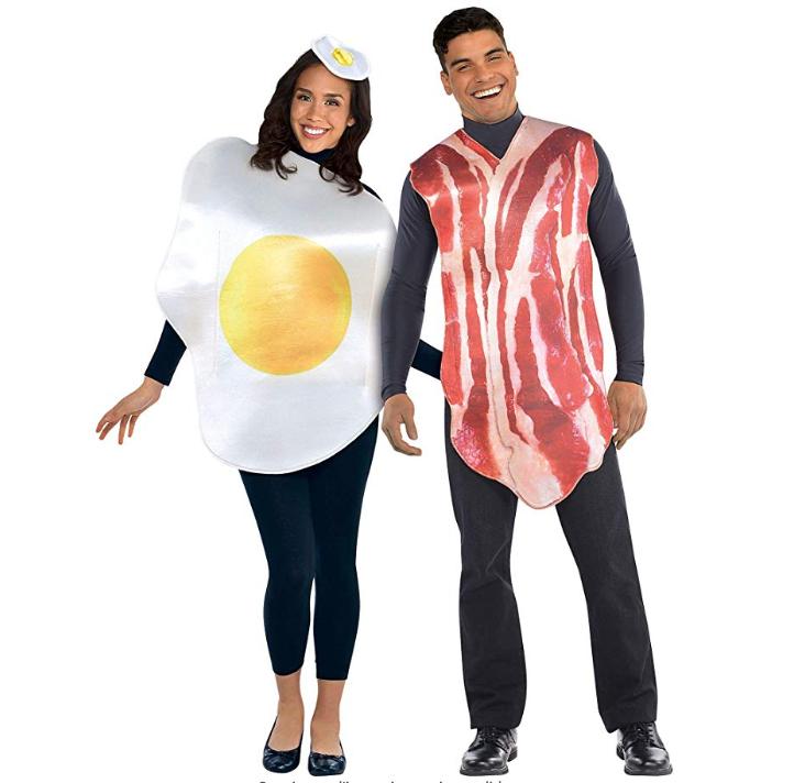 costume carnevale coppia uova e bacon