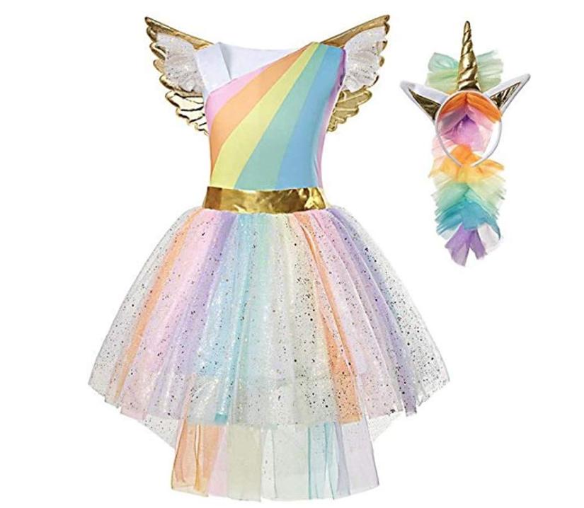costume carnevale unicorno bambina