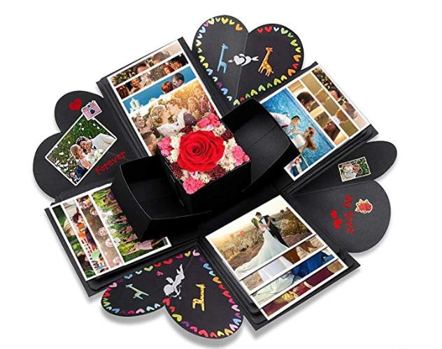 explosion box foto san valentino regali per lei
